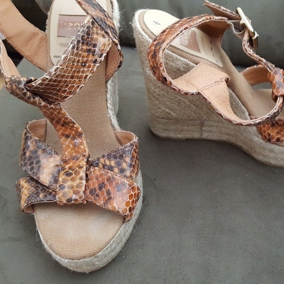 kanna Shoes | 36 6 Brown Wedge Sandals